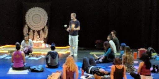 Mindfulness Meditation and Tibetan Bowls and Lotus Drum