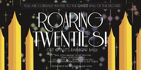 Roaring 20's - Out@AUT's rainbow ball! [CANCELLED] tickets