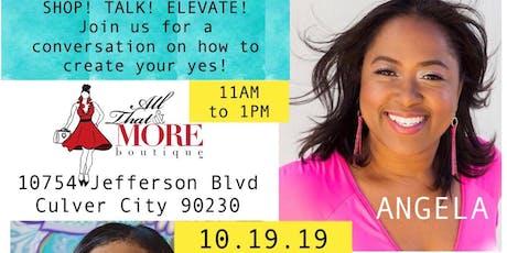 Shop! Talk! Elevate! Conversation with Book Author Angela Marie Hutchinson tickets