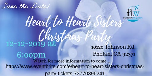 Heart to Heart Sisters Christmas Party