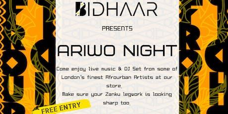 ARIWO - A NIGHT OF AFROURBAN MUSIC tickets