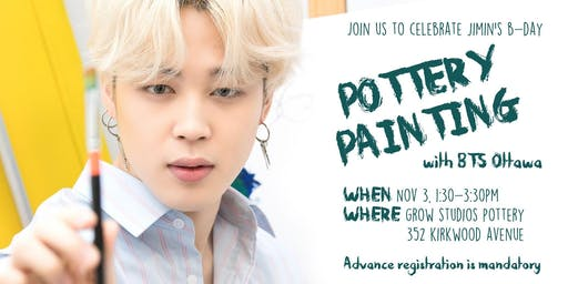 Happy Jimin Day - Pottery Painting Event