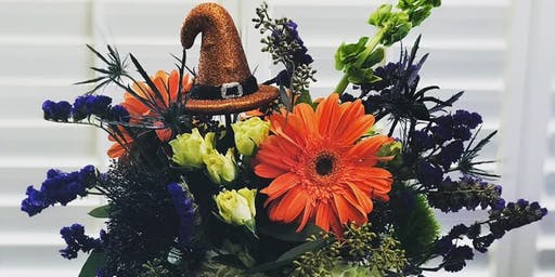 Halloween Pumpkin Flower Arrangement Workshop