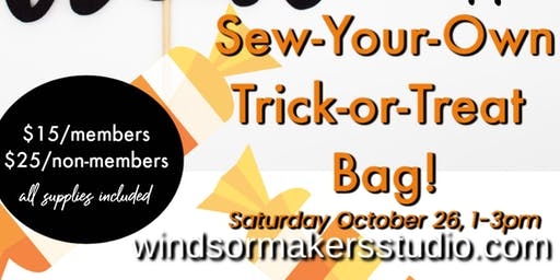 Sew-Your-Own Trick or Treat Bag