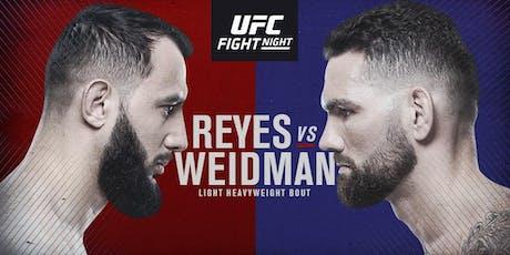 UFC - Reyes vs Weidman tickets