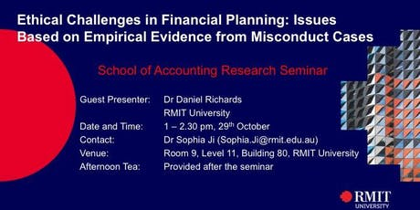 Ethical Challenges in Financial Planning tickets