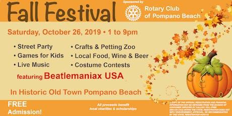Pompano Beach Fall Festival tickets