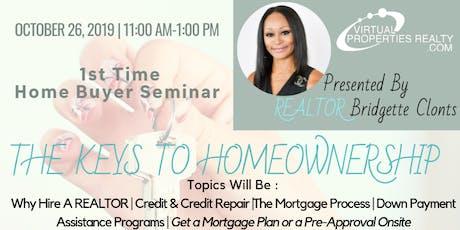 Free Homebuyer Seminar -The Keys to Homeownership tickets
