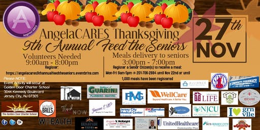 AngelaCARES 9th Annual Thanksgiving Feed the Seniors Volunteer Sign up ONLY
