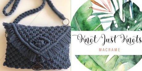 #imadeitmyself  -  macrame purse with Knot Just Knots Macrame  tickets