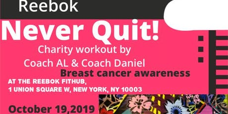 Never Quit! A Breast Cancer Awareness Workout tickets