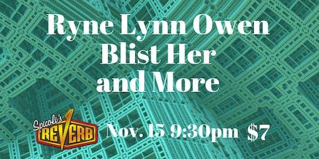Ryne Lynn Owen and Friends at Spicoli's! tickets