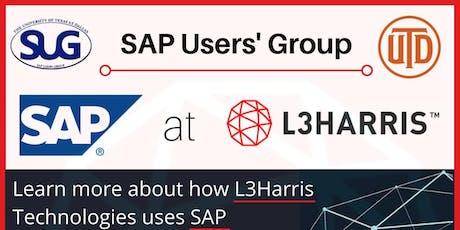SAP AT L3 HARRIS TECHNOLOGIES tickets