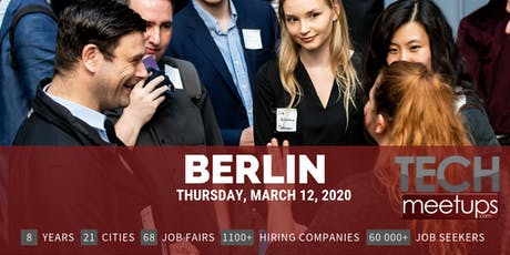 Berlin Tech Job Fair Spring 2020 By Techmeetups tickets