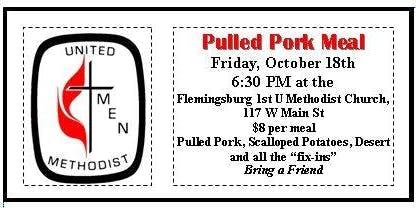 Methodist Men Pulled Pork Dinner