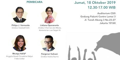 """Seminar Nasional """"Generasi Muda dan Kebijakan Luar Negeri Indonesia"""" tickets"""