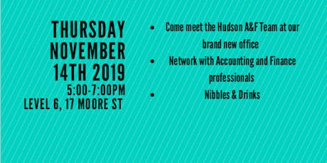 Hudson Accounting and Finance Professionals Meet & Greet tickets