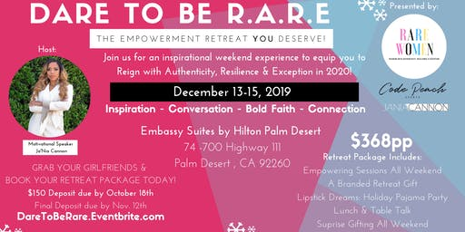 DARE to be R.A.R.E: The Holiday Women's Empowerment Experience YOU Deserve!