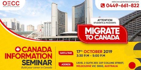 OECC Canada Information Seminar   Melbourne   2019 tickets