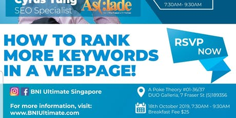 How to rank more keywords in a webpage - Business Breakfast Networking tickets
