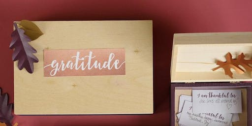 """Gratitude Box"" collage facilitated by Kim Griffis"