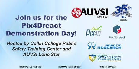 Pix4Dreact Demonstration Day! Hosted by Collin College Public Safety Training Center and AUVSI Lone Star  tickets