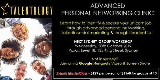 Talentology - Advanced Personal Networking  - Master Class