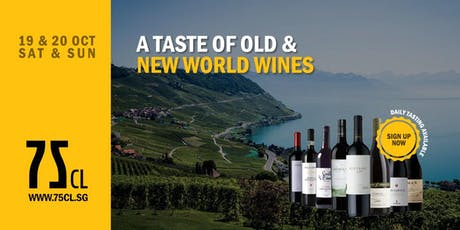 A Taste of Old & New World Wines tickets
