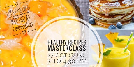 Healthy Recipe Masterclass tickets