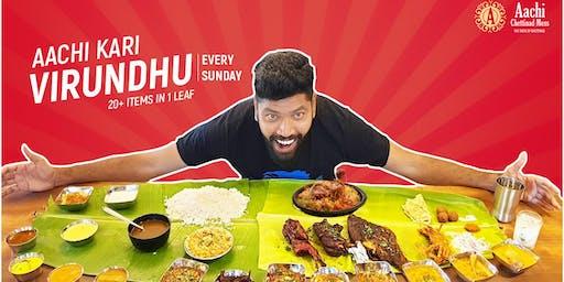 Aachi Kari Virundhu - South Indian Non Veg Banana Leaf Fest