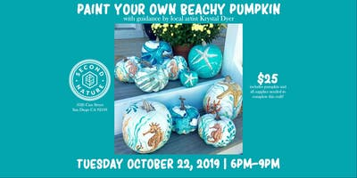 Paint Your Own Beachy Pumpkin