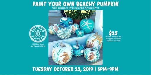 Paint Your Own Beachy Pumpkin
