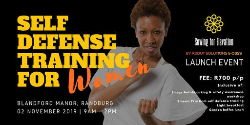 SELF DEFENSE TRAINING FOR WOMEN