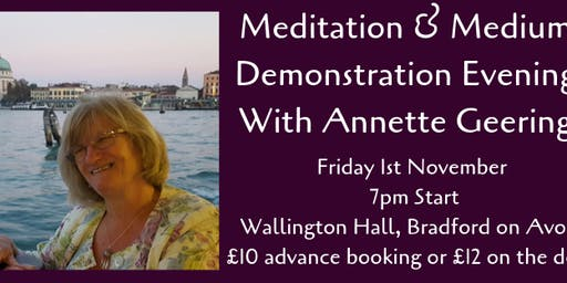 Meditation & Mediumship Evening With Annette Geering
