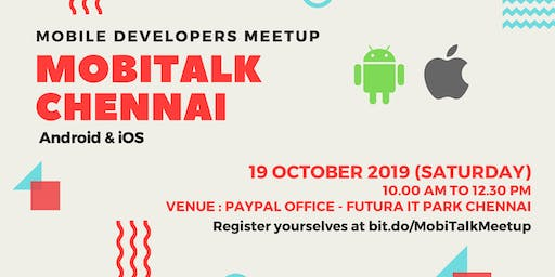 MobiTalk Chennai Mobile Developers Meetup - October Edition