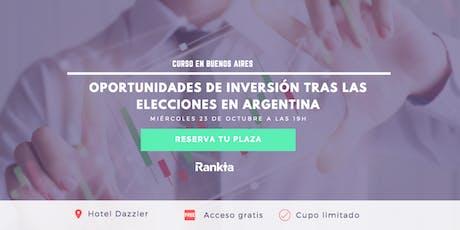 Elecciones en Argentina: buscando oportunidades de inversión en el exterior entradas