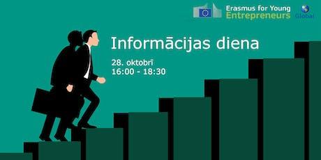 Erasmus jaunajiem uzņēmējiem informācijas diena tickets
