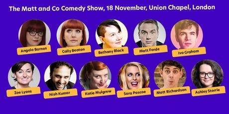 National Autistic Society presents: Matt and Co Comedy Show tickets