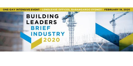 BUILDING LEADERS BRIEF INDUSTRY 2020 tickets