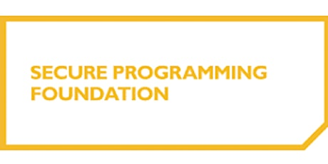 Secure Programming Foundation 2 Days Virtual Live Training in Utrecht tickets