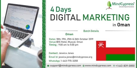 Digital Marketing 4 Days Training by MindCypress at Muscat tickets