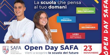 2° Open Day SAFA - La scuola che pensa al tuo domani biglietti