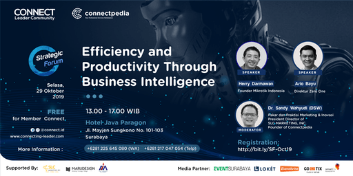 Efficiency & Productivity Through Business Intelligence (Paid Event)