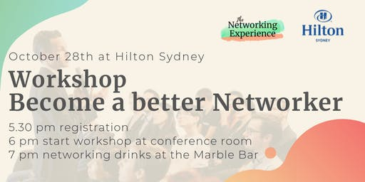 Workshop: become a better networker + networking drinks