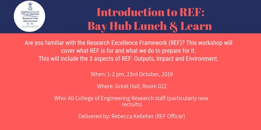 Introduction to REF:  Bay Hub Lunch & Learn