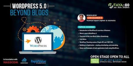 WordPress 5.0 -  Beyond Blogs tickets