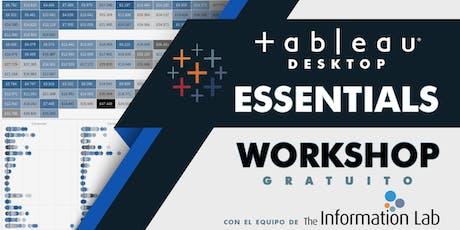 Tableau Essentials Noviembre 2019 entradas