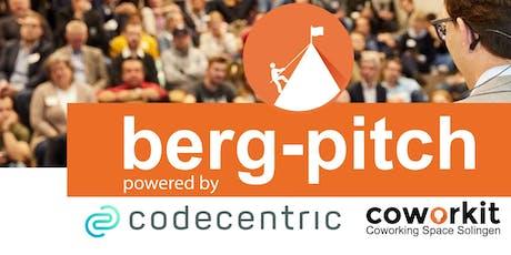 7. BERG-PITCH - Das Startup-Event im Bergischen Land - 25.11.19 Tickets