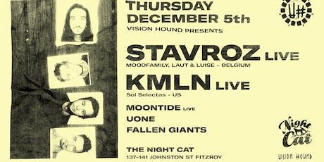Vision Hound presents Stavroz Band, KMLN Live ++ tickets