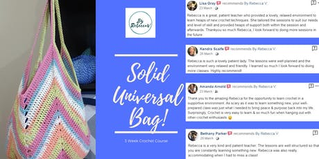 Universal Crochet Bag Course..... What a gift!!!!! tickets